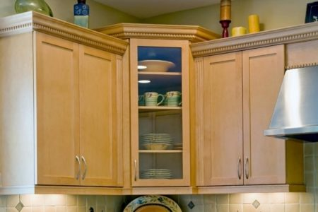 Upper Corner Kitchen Cabinet Storage Solutions