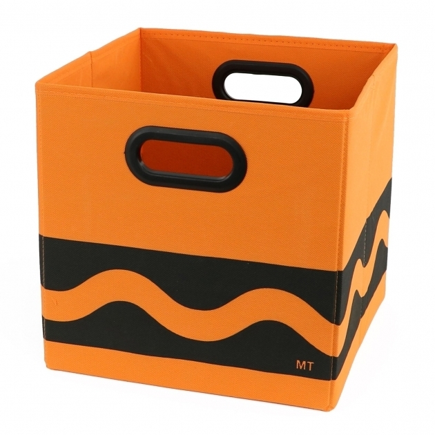 Awesome Modern Littles Crayola Serpentine Fabric Storage Bin Reviews Orange Storage Bins