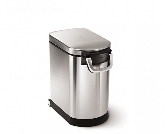 Awesome Simplehuman Medium Pet Food Bin Fingerprint Proof Brushed Large Metal Storage Containers