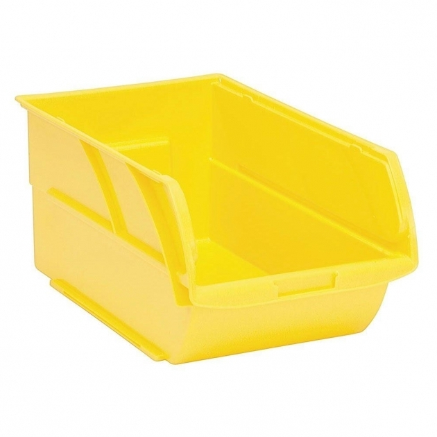 Awesome Stanley 1 Compartment Stackable Storage Bin 056400l The Home Depot Orange Storage Bins