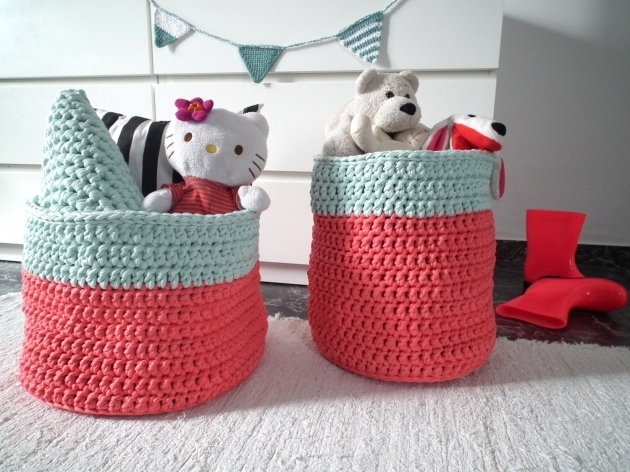 Awesome Xxl Crochet Baskets Big Crochet Storage Bin Large Storage Coral Storage Bins