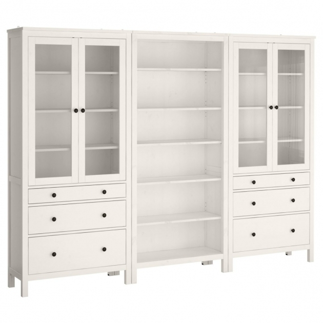 Fantastic Large White Painted Oak Wood Storage Cabinet With Glass Doors And Large Storage Cabinet With Doors
