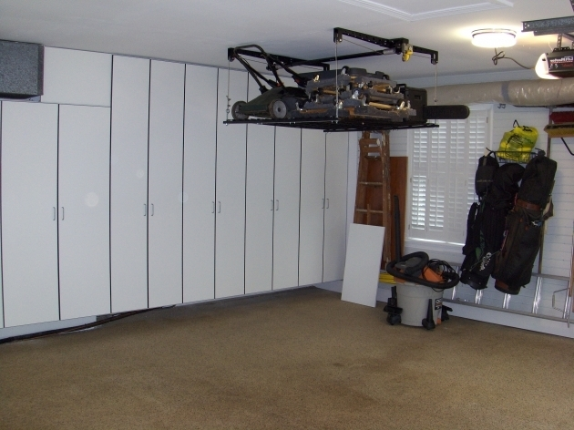 Fantastic Retractable Garage Storage Solutions Ceiling Storage Solutions Sears Garage Storage Cabinets