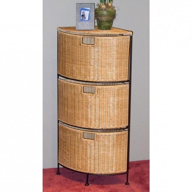 Gorgeous Corner Wicker Storage Cabinet Iron Metal Frame Wicker Storage Cabinets