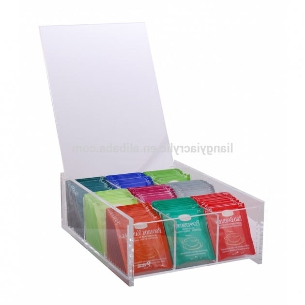 Gorgeous Customized High Quality Clear Acrylic Tea Bag Storage Containers Tea Bag Storage Container