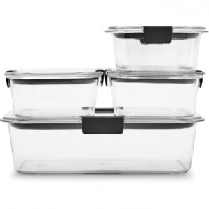 Rubbermaid Brilliance Food Storage Container Large 9.6 Cup Clear