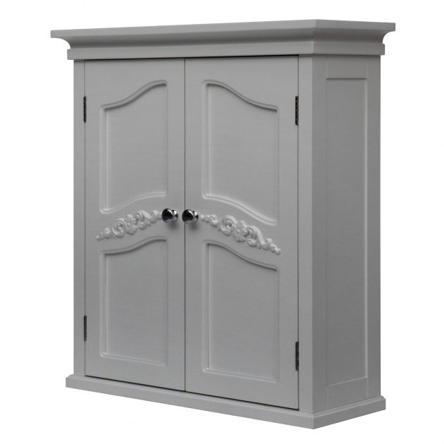 Image of Acclaim Solid Oak Bathroom Wall Mounted Storage Cabinet In White Bathroom Storage Cabinets Wall Mount