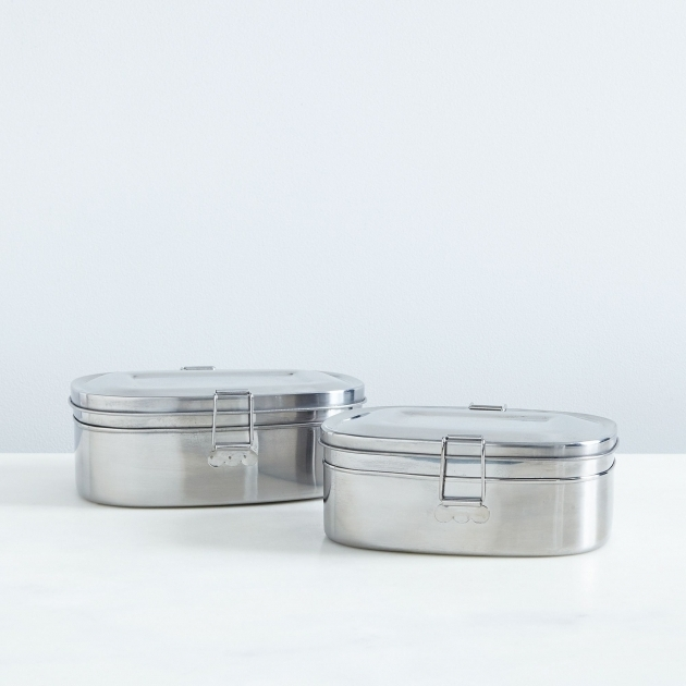 Image of Divided Airtight Storage Container On Food52 Large Metal Storage Containers