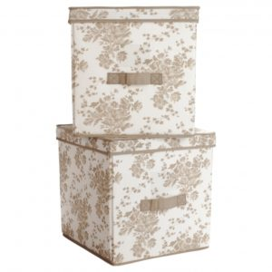 Canvas Storage Bins With Lids