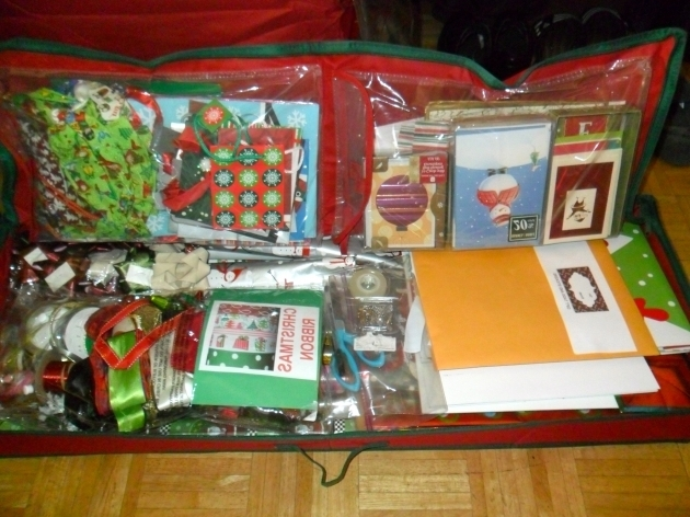 Image of Holiday Decoration Storage My Color Coded Life Container Store Wrapping Paper Storage