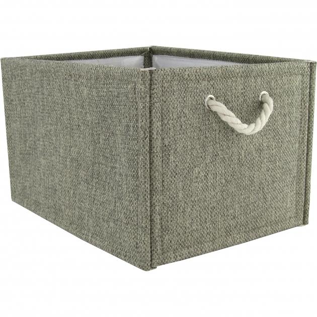 Image of Hometrends Fabric Storage Box Brown Walmart Canvas Storage Bins With Lids