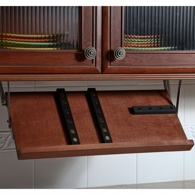 Image of Under Cabinet Knife Block Cherry In Knife Storage Under Cabinet Knife Storage