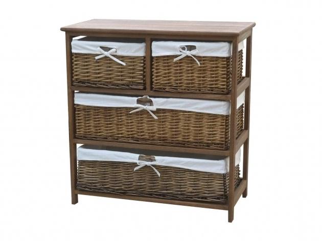 Incredible Charles Bentley Wooden Wicker Drawer Storage Cabinet Wicker Storage Cabinets