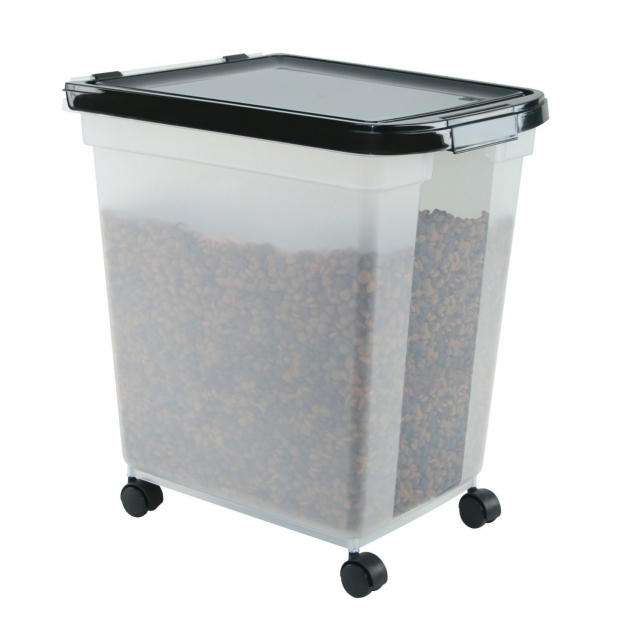 Incredible Iris Airtight Dog Food Storage Container 50 Pound Clearblack 50 Lb Dog Food Storage Containers