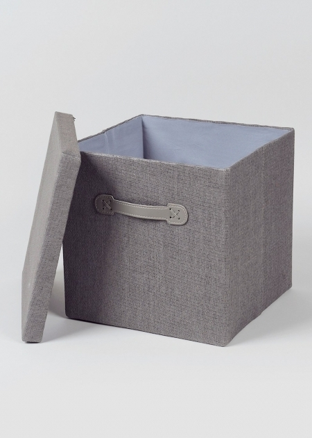 Inspiring Foldable Fabric Storage Box 33cm X 33cm X 31cm Matalan Canvas Storage Bins With Lids
