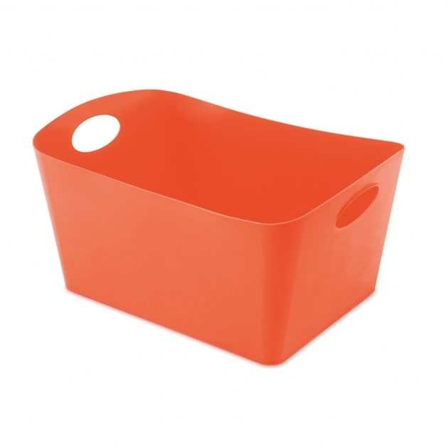 Inspiring Large Rectangular Storage Bin Reviews Allmodern Orange Storage Bins