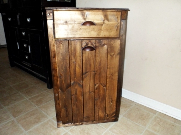 Inspiring Tilt Out Trash Can Etsy Tilt Out Trash Bin Storage Cabinet