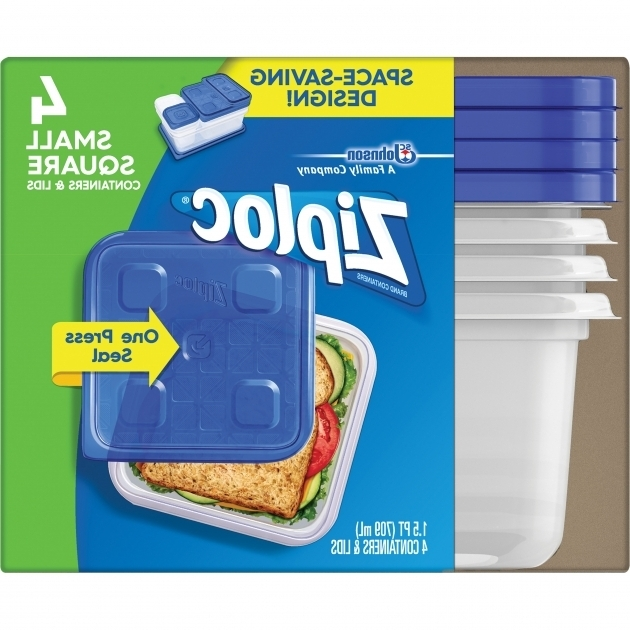 Inspiring Ziploc Brand Container With One Press Seal Small Square 4 Count Ziploc Food Storage Containers
