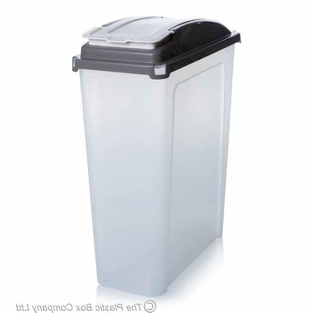Marvelous Buy 25lt Slim Plastic Recycling Bin With Lid Slate Base Tall Plastic Storage Bins