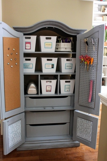 Outstanding 25 Best Ideas About Craft Armoire On Pinterest Craft Cupboard Scrapbooking Storage Cabinet