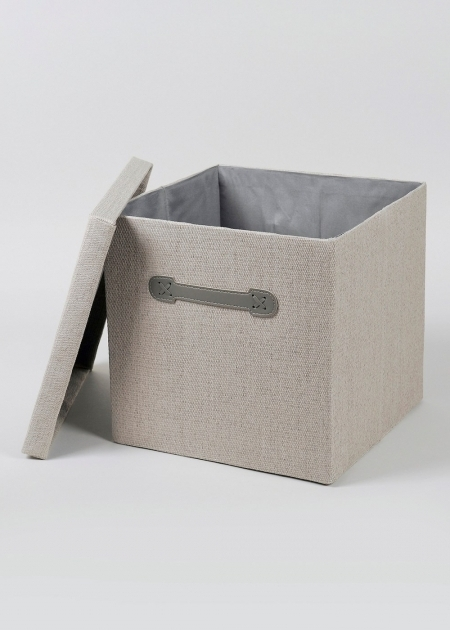 Outstanding Foldable Fabric Storage Box 33cm X 33cm X 31cm Matalan Canvas Storage Bins With Lids
