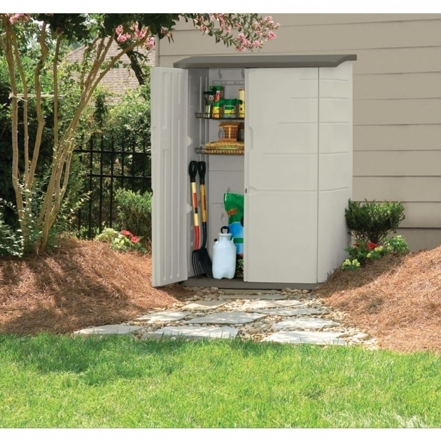Outstanding Rubbermaid 6 Ft 5 In X 4 Ft 7 In Large Vertical Storage Shed Rubbermaid Outdoor Storage Cabinet