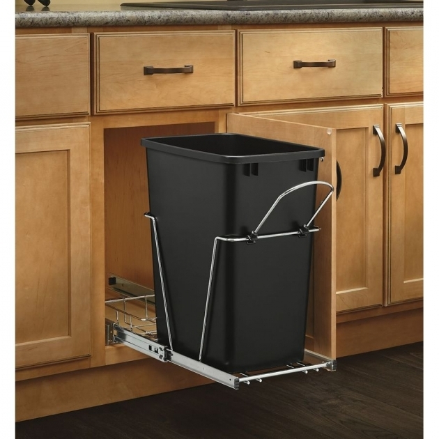 Outstanding Shop Pull Out Trash Cans At Lowes Tilt Out Trash Bin Storage Cabinet