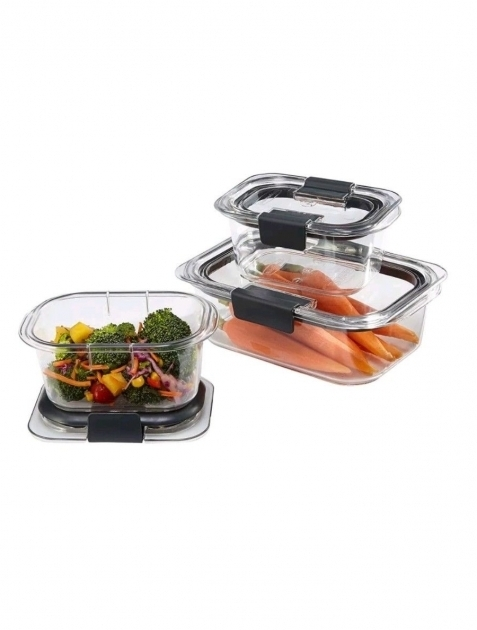 Picture of Rubbermaid Brilliance Food Storage Container Bpa Free Plastic 6 Rubbermaid Brilliance Food Storage Container