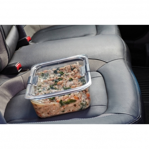 Picture of Rubbermaid Brilliance Food Storage Container Multiple Sizes Rubbermaid Brilliance Food Storage Container Large 9.6 Cup Clear