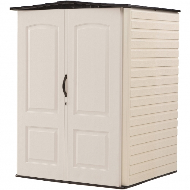 Picture of Rubbermaid Medium Vertical 106 Cuft Outdoor Storage Building Rubbermaid Outdoor Storage Cabinet