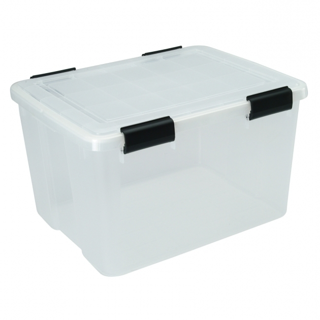 Remarkable Iris 466 Qt Water Tight Storage Box 110450 6 Pack Totes Airtight Storage Bins