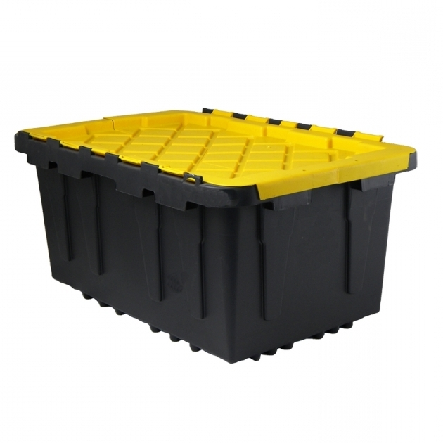 Remarkable Shop Centrex Plastics Llc Commander 17 Gallon Black Tote With Lowes Storage Containers