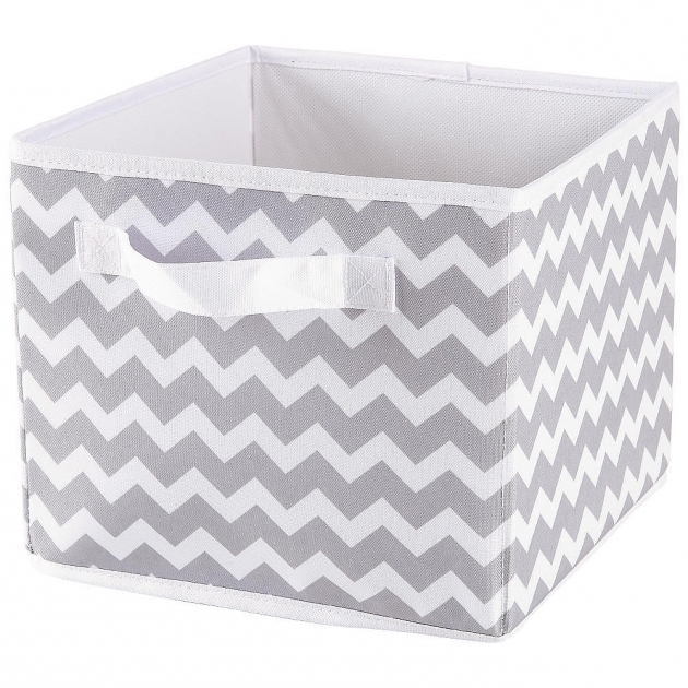 Remarkable The Must Have Kids Room With Gray White Chevron Canvas Storage Canvas Storage Bins With Lids