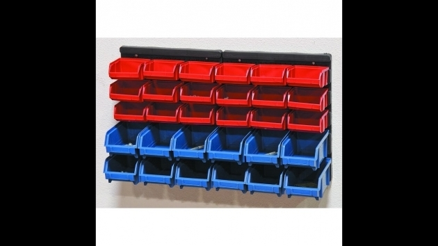 Stunning 30 Bin Wall Mount Parts Rack Harborfreight Item69571 Youtube Harbor Freight Storage Bins