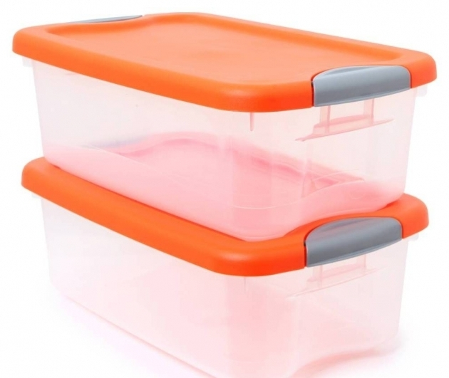 Stunning Plastic Storage Bins With Orange Top Organize With Storage Bins Orange Storage Bins
