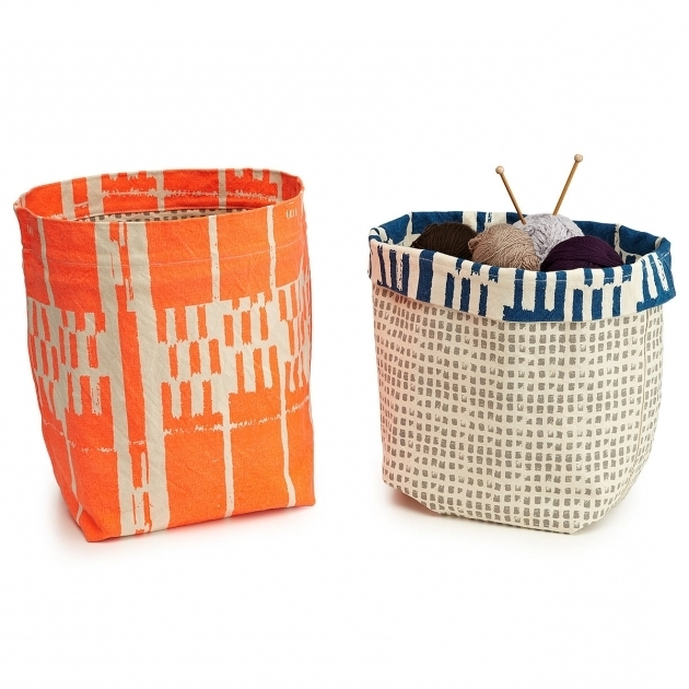 Stylish Canvas Storage Bins Adjustable Storage Cube Uncommongoods Orange Storage Bins
