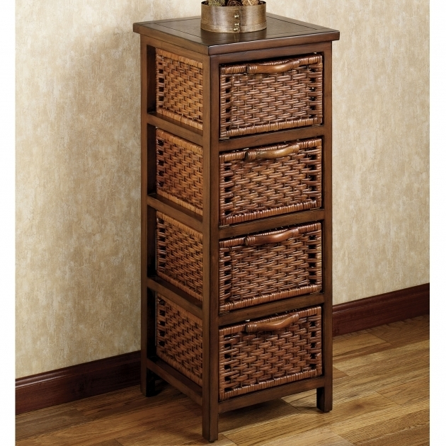 Stylish Furniture Storage Cabinets And Chests With 4 Drawers Design Wicker Storage Cabinets