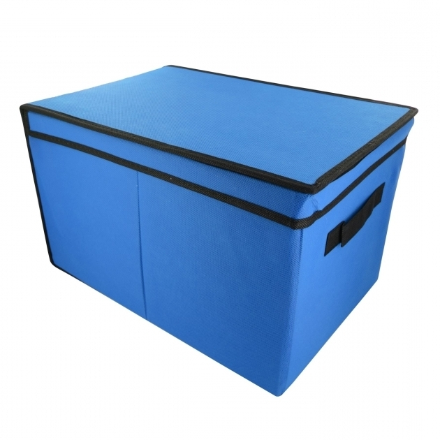 Stylish Home Bedroom Tote Canvas Storage Toy Box Foldable Lid Books Canvas Storage Bins With Lids
