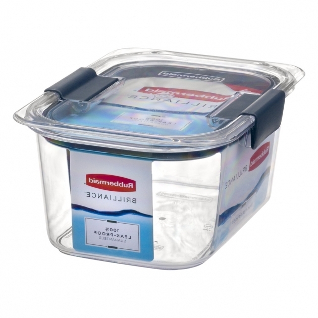 Stylish Rubbermaid Brilliance Medium Deep Container 10 Ct Walmart Rubbermaid Brilliance Food Storage Container Large 9.6 Cup Clear