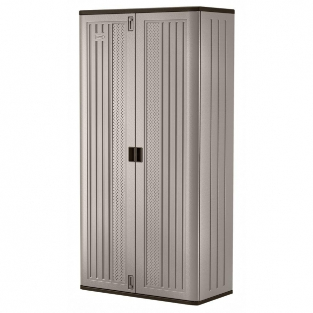 Stylish Suncast 40 In X 8025 In 3 Shelf Resin Mega Tall Storage Cabinet Suncast Storage Cabinets