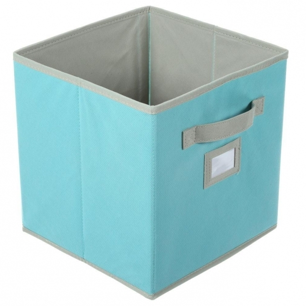Alluring Martha Stewart Living 10 12 In X 11 In Lagoon Blue Fabric Turquoise Storage Bins