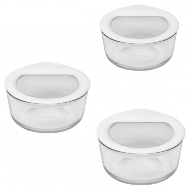 Alluring Pyrex No Leak Lids 3 Container Food Storage Set Reviews Wayfair Pyrex 22 Piece Food Storage Container Set