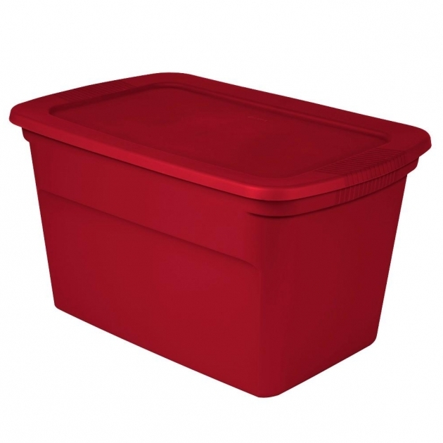 Alluring Sterilite 30 Gal Storage Tote Case Of 6 17366606 The Home Depot 30 Gallon Storage Bins