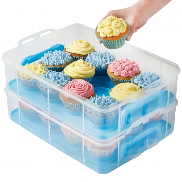 Amazing Vonshef 3 Tier Cupcake Holder And Carrier Container Reviews Cake Storage Containers