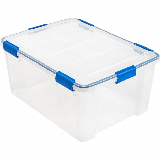 Amazing Ziploc 60 Qt Weathershield Storage Box Clear Walmart Ziploc Storage Bins