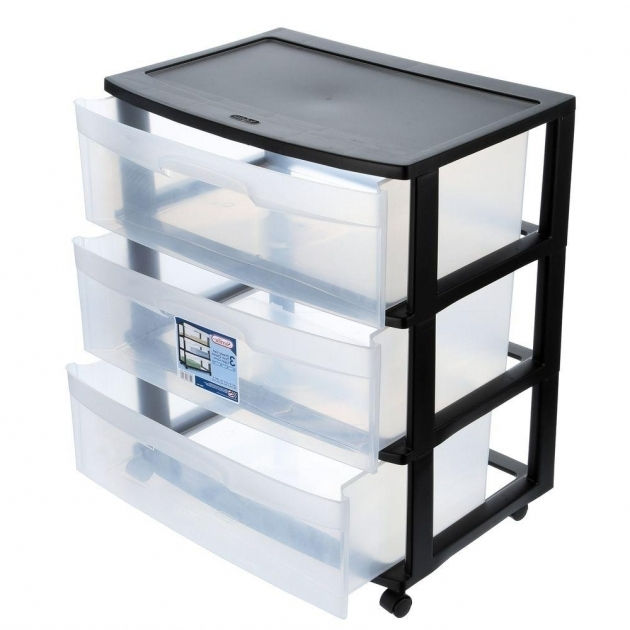 Awesome Sterilite 2188 In 3 Drawer Wide Cart 1 Pack 29309001 The Plastic Storage Bins With Drawers