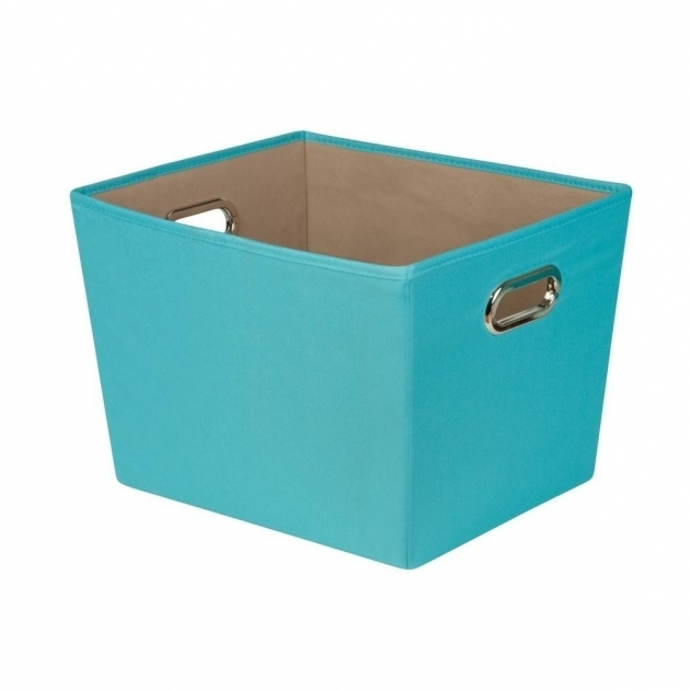 Best Honey Can Do 383 Qt Medium Decorative Storage Bin With Handles Turquoise Storage Bins