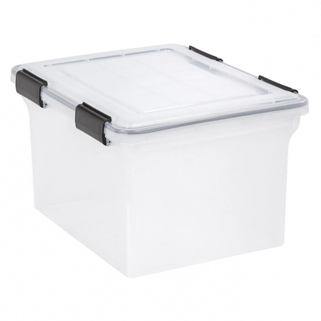 Best Iris 32 Qt Weather Tight Storage Box In Clear 110600 The Home Depot Iris Storage Containers
