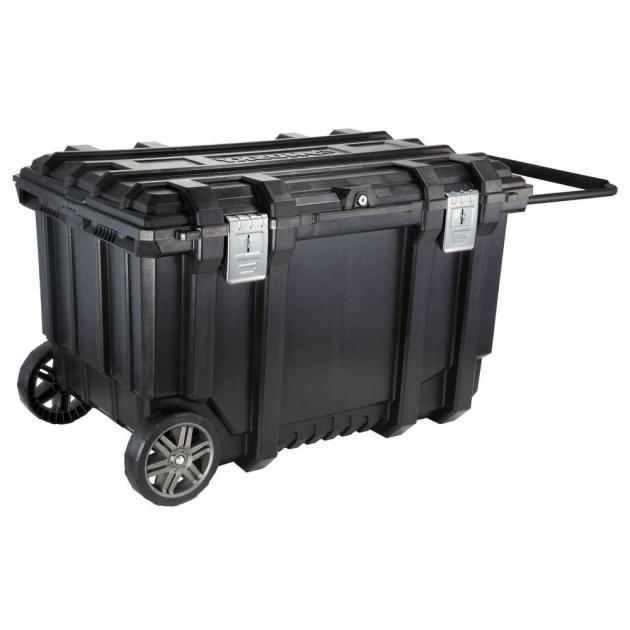 Fantastic Husky 37 In Mobile Job Box Utility Cart Black 209261 The Home Depot Husky Storage Containers