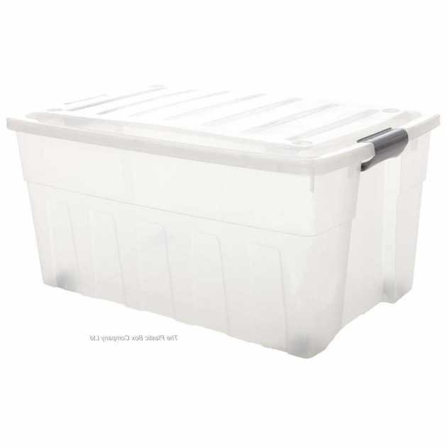 Image of Buy 110lt Extra Large Plastic Storage Box With Wheels And A Clip Plastic Storage Containers With Wheels